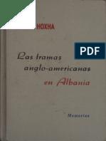 Enver Hoxha Las Tramas Anglo Americanas en Albania Esp