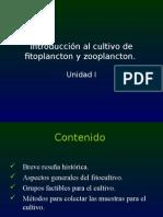 1.-Introducción Al Cultivo de Fitoplancton y Zooplancton