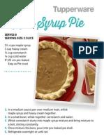 Tuppreware Maple Syrup Pie