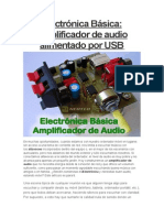 Amplificados de Audio Por Usb