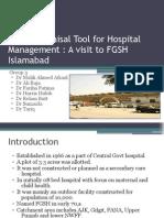 Rapid Appraisal Tool for Hospital Management