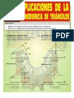 Aplicaciones de La Congruencia de Triangulos ( Rubiños Ediciones )