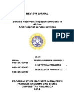 Jurnal - Service Receivers Negative Emotions in Airline and Hospital