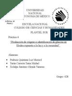 Práctica 4. Producción de Oxigeno e Identificación de Glucosa...