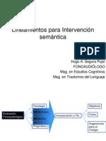 Intervención en Semántica