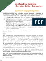 Estrutura de Um Algoritmo, VariáVeis, Comandos de Entrada e S..