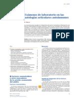 2014 Exámenes de Laboratorio en Las Patologías Articulares Autoinmunes