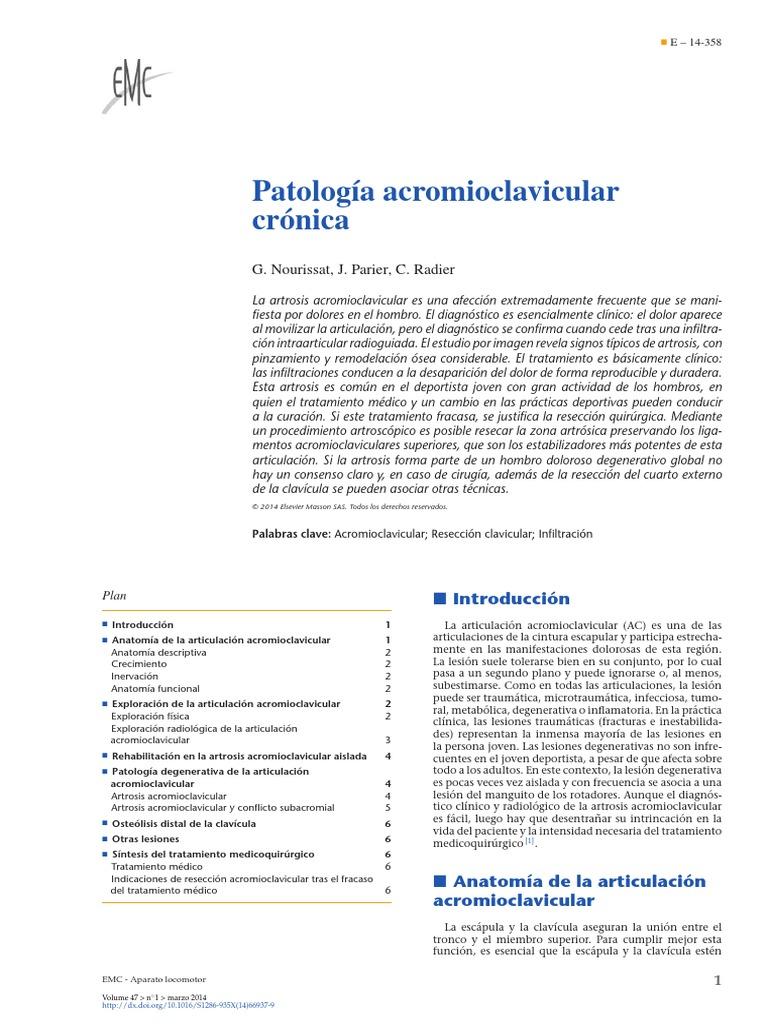2014 Patología Acromioclavicular Crónica