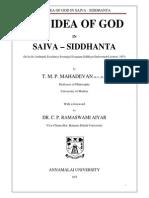 The Idea of God in Saiva Siddhanta