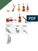 Instrumentos de Percusion, Cuerda, Viento