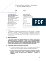 Silabus Matematica I Administracion 2015-I