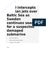 Russian Jets Caught Over Baltic