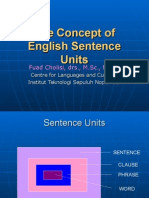 The Concept of English Sentence Units