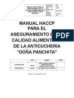 Manual Haccp Anticucheria Doña Panchita