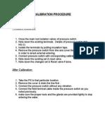Calibration Procedure - Pressure Switch