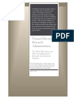 Toward Electronic Research Administration