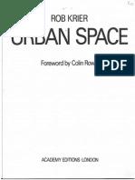 Urban Space- Rob Krier