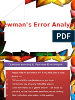 Newmans Error Analysis