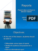 1 Types of Reports