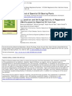Composition and Antifungal Activity of Peppermint
