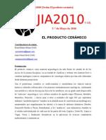 JIA2010 SESIÓN Nº8 (El producto cerámico)