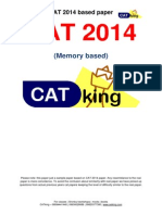 CAT 2014 Paper by Cetking