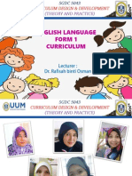 English Language Form 1 Curriculum Proposal
