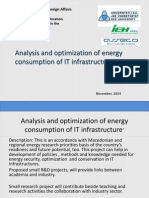 Analysis and Optimization of Energy Consumption of IT Infrastructure