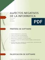 Aspectos Negativos de La Informatica