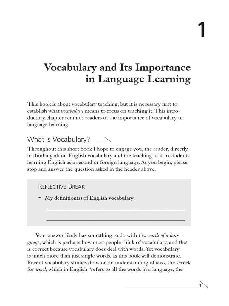 Worksheet Importance Of Vocabulary bk eltd vocabulary 974 english language