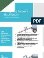 Forces in Equilibrium 2