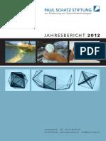 Zukunftstechnologien Paul Schatz Stiftung Jahresbericht 2012
