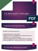 3.6 Bernoulli's Peinciple