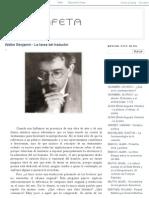 Estafeta_ Walter Benjamin - La Tarea Del Traductor