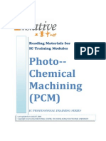Photo Chemical Machining (PCM)