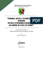 Consumo Precio y Crecimiento de La Demanda de Energia Electrica en Republica Dominicana