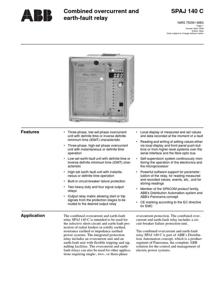 Spaj140c Relay Power Supply 4 Terminal Pada