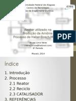 Seminário Cinética II - BRUNA VERAS - Produção da Amônia - REATOR DE HABER-BOSCH-MITTASCH.pptx