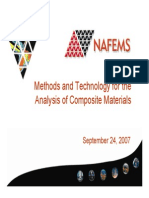 Nafems CompoMethods and Technology for the Analysis of Composite Materialssiteswebinar 2007 All Inc
