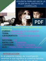 Violencia Familiar a La Mujer en El Distrito de Chorrillos