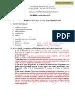 FORMATO INFORME Inventario Clínico Multiaxial Millon