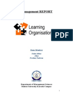 The Impact of Learning on the Organization's Competitive Advantages