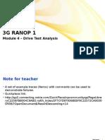 Drive Test Analysis