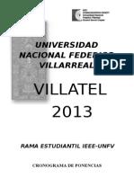 Cronograma de Ponencias Villatel 2013