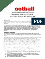 The First Report Of Football Between Communities Report 2007-2008