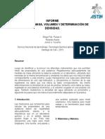 Informe Medidas de Masa, Volumen, Densidad