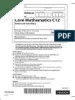 Edexcel IAL as Level Core Mathematics Unit 1 Jun 2014