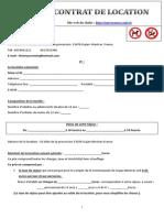 Contrat de Location Standard