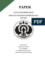 peranan pajak bagi pembangunan bangsa