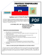 Flyer on Haitian TPS Workshop DC Feb 13 FRENCH